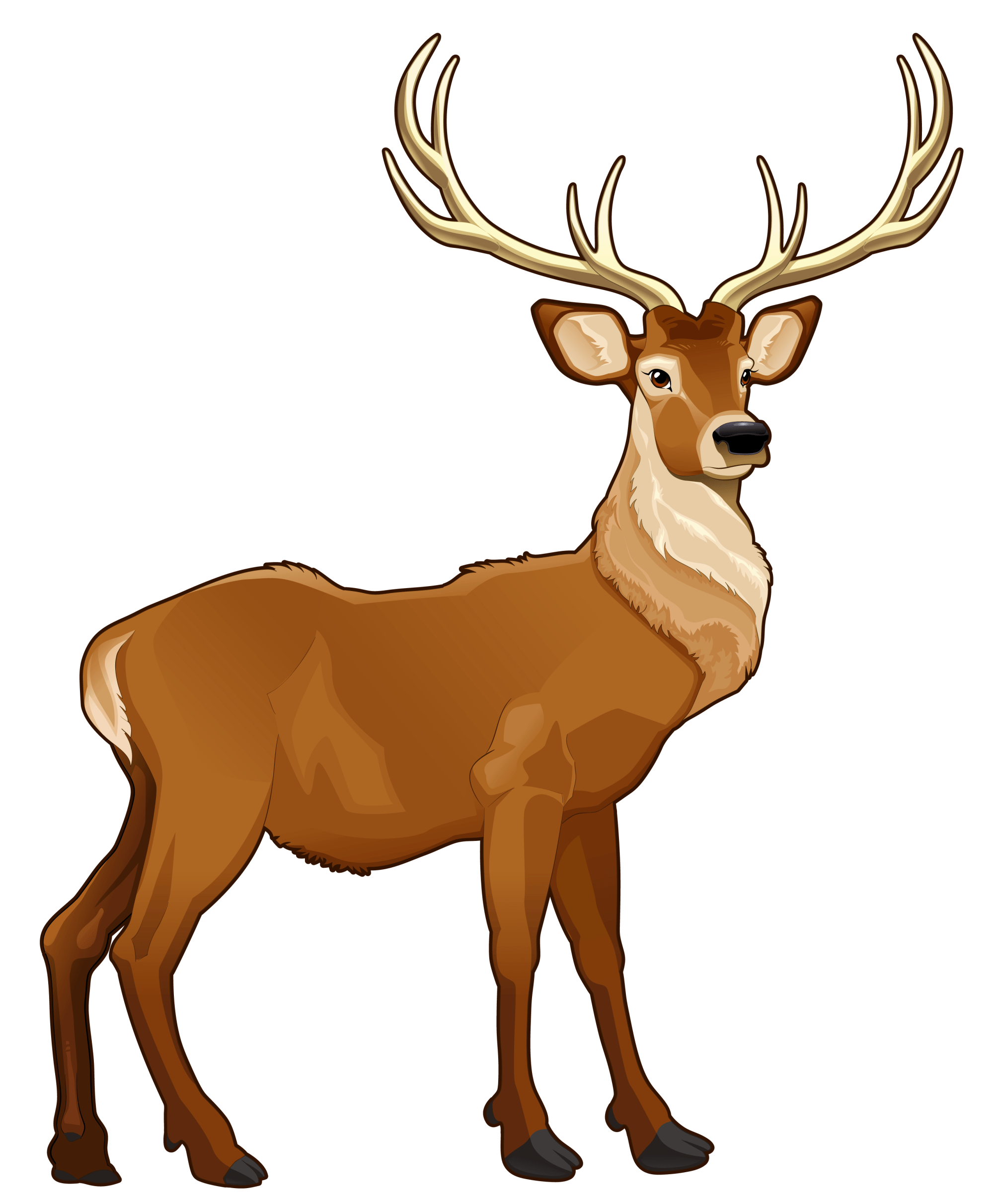 hight resolution of free reindeer clipart