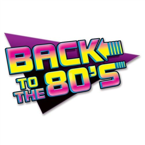 Download Large Back to The 80&Die Cut Wall Decoration 80&Party Back to