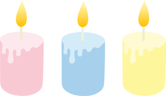 free candle cliparts