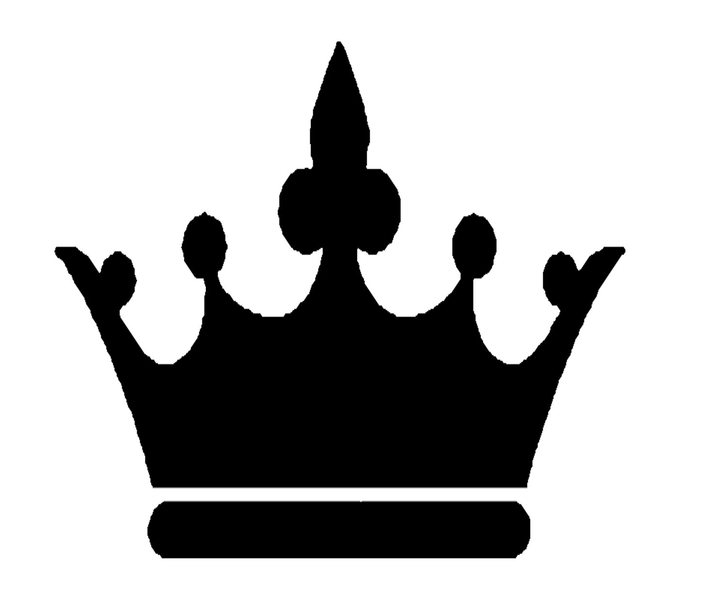 hight resolution of black crown clipart