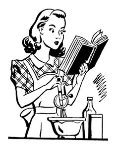 Cookbook Clipart : cookbook, clipart, Vintage, Cooking, Clipart, Library