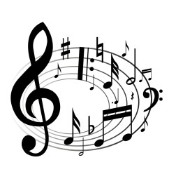 music notes clipart black and white [ 1224 x 1224 Pixel ]