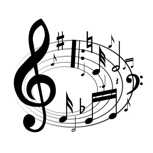 small resolution of music notes clipart black and white