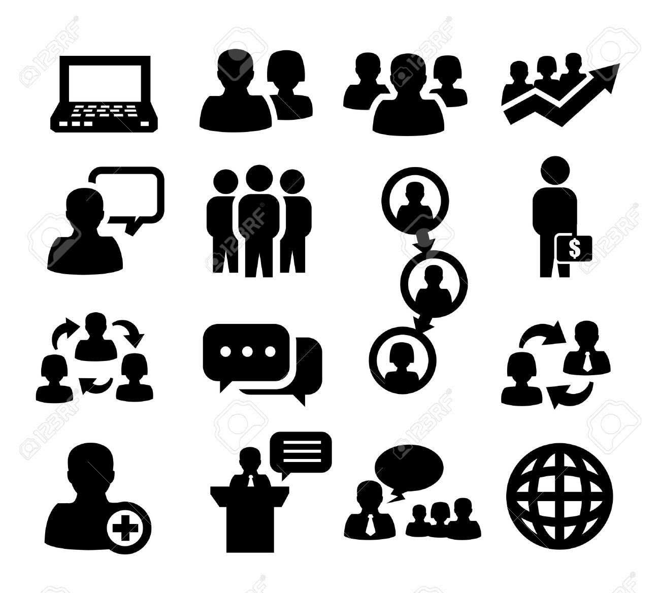 General People Group Icon Clipart