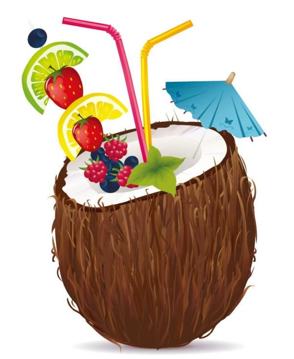 free coconut cliparts