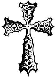 tribal cross tattoo art design