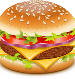 hamburger cartoon clip art 3 image [ 2400 x 2132 Pixel ]