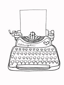 Clip Art Old Typewriters