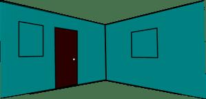 clipart walls 3d interior clip door wall cliparts windows library clipground domain clker