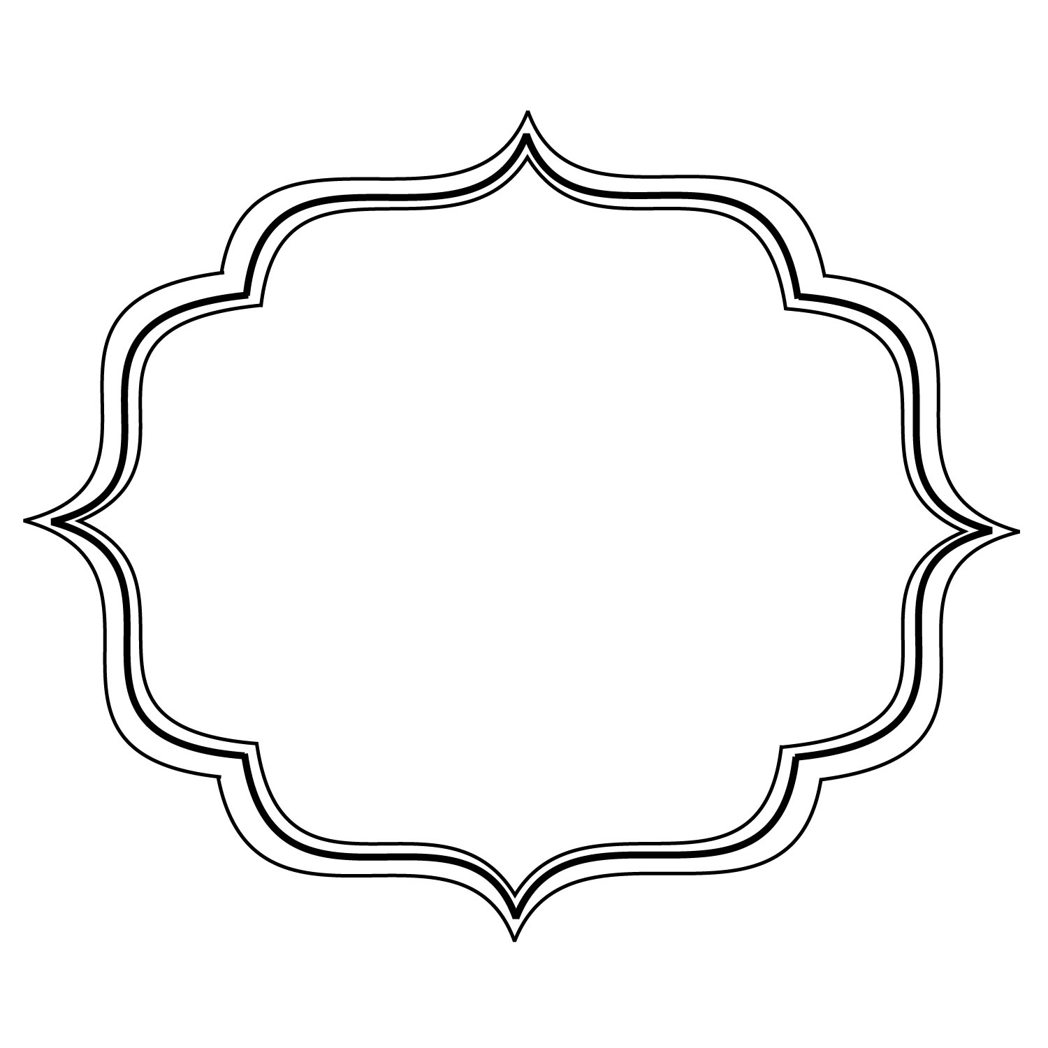 hight resolution of fancy frame free clipart