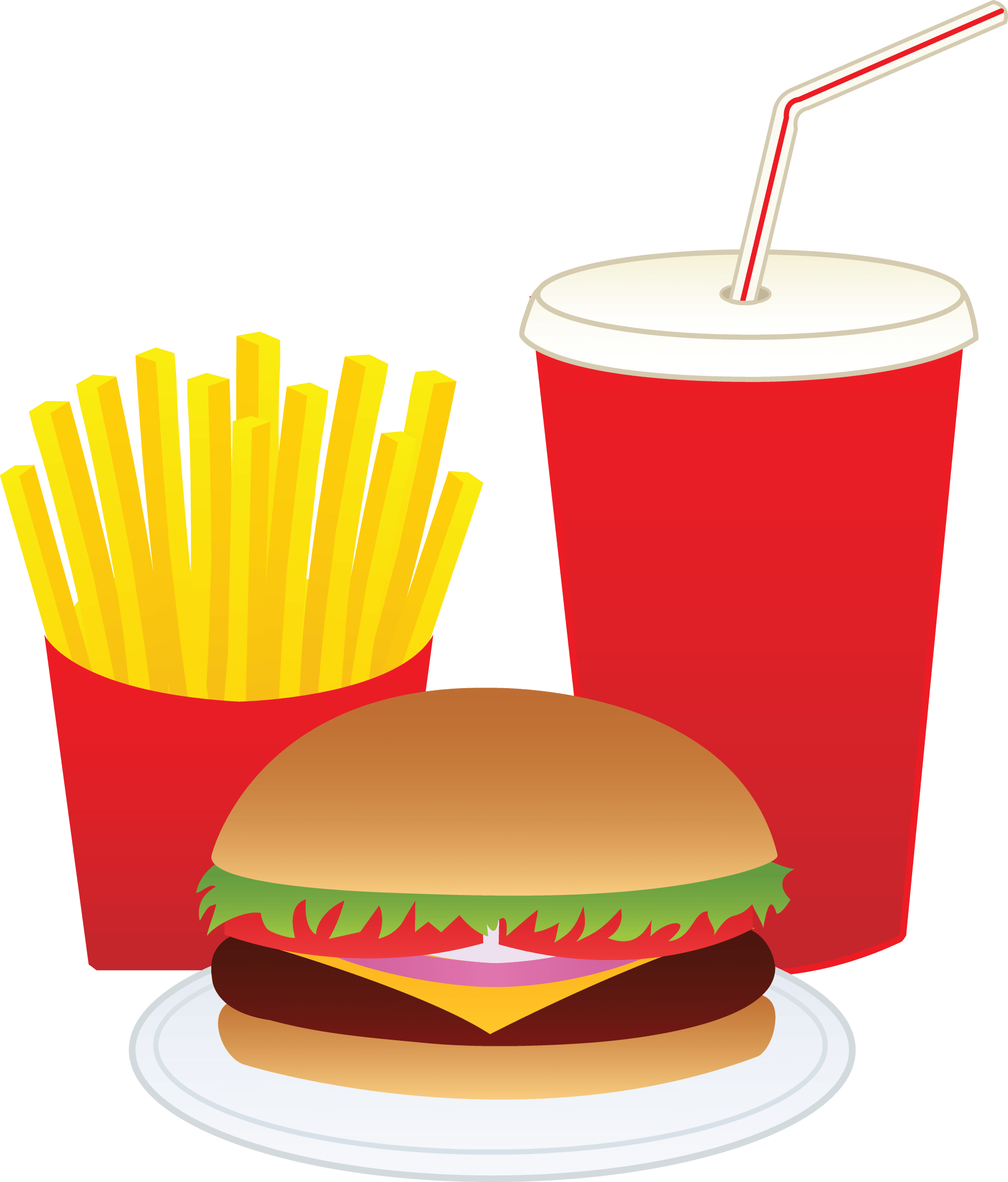 hight resolution of hamburger fries and a drink free clip art