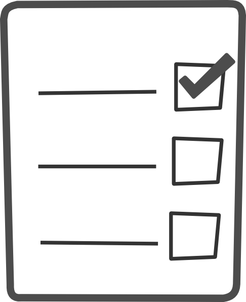 Gray Checklist Clip Art