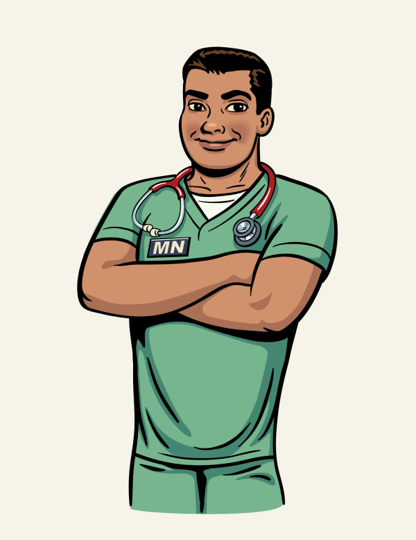 Male Nurse Cartoon Clipart