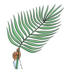 palm sunday clip art [ 1668 x 1868 Pixel ]