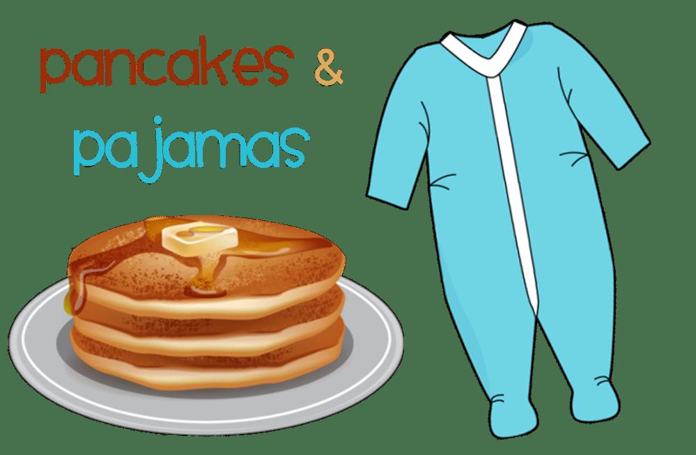 medium resolution of pancakes and pajamas family night