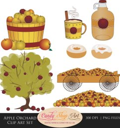 apple orchard clip art set apples apple by candyshopdigitalart [ 1000 x 1000 Pixel ]