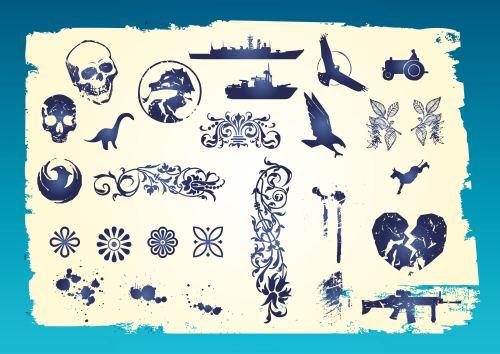 small resolution of grunge vector clip art vector art graphics