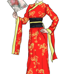 free to use public domain japanese clip art [ 800 x 1337 Pixel ]