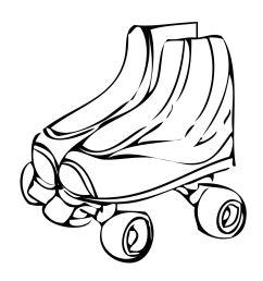 free roller skate clip art [ 1275 x 1650 Pixel ]