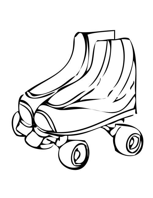 small resolution of free roller skate clip art