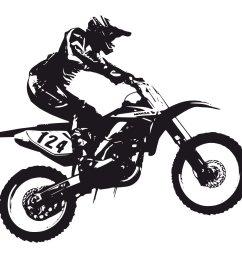 dirt bike black and white clipart [ 1200 x 1200 Pixel ]