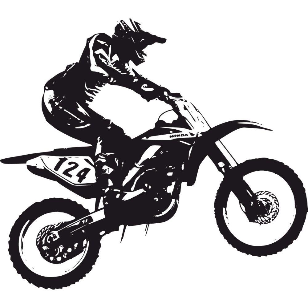 medium resolution of dirt bike black and white clipart