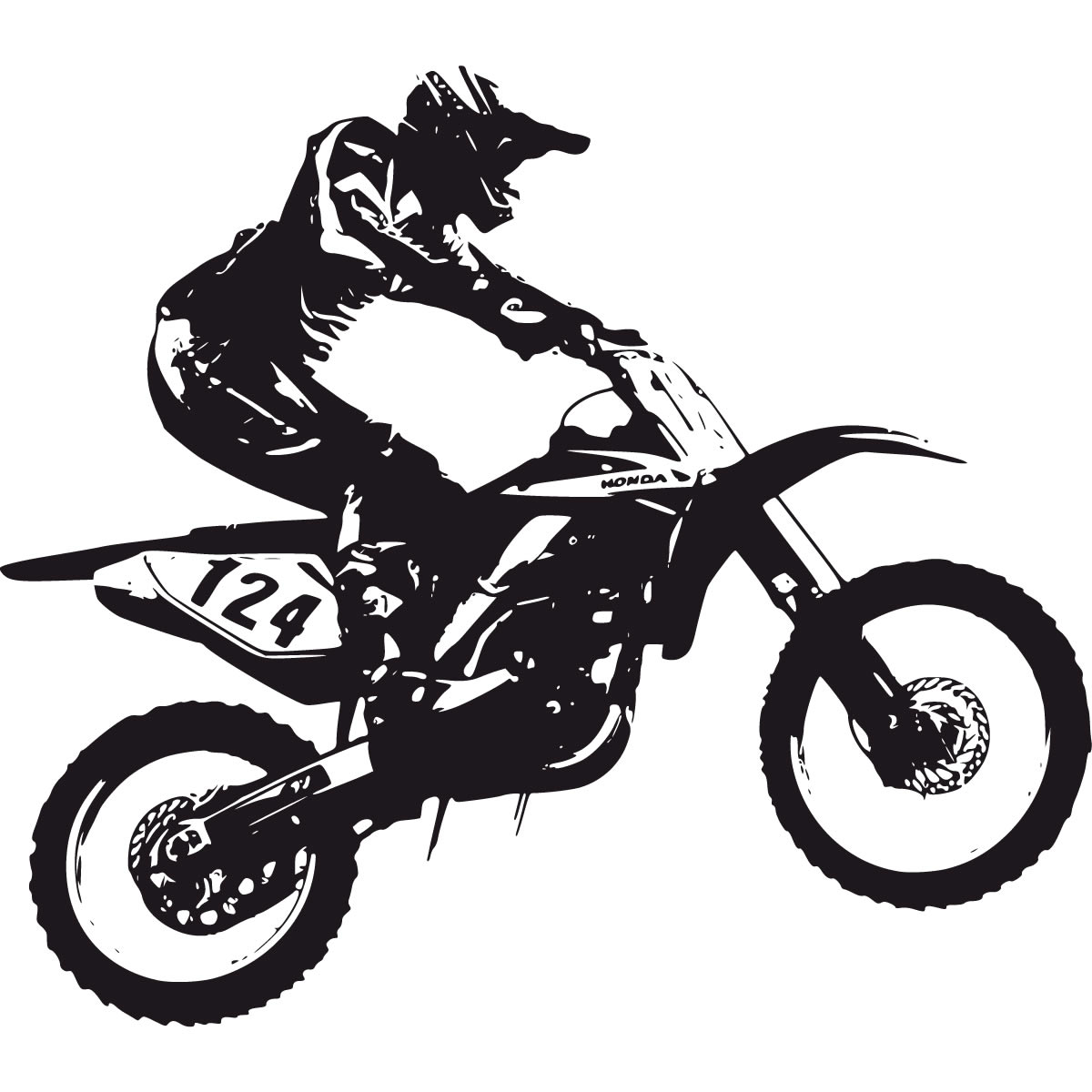 hight resolution of dirt bike black and white clipart