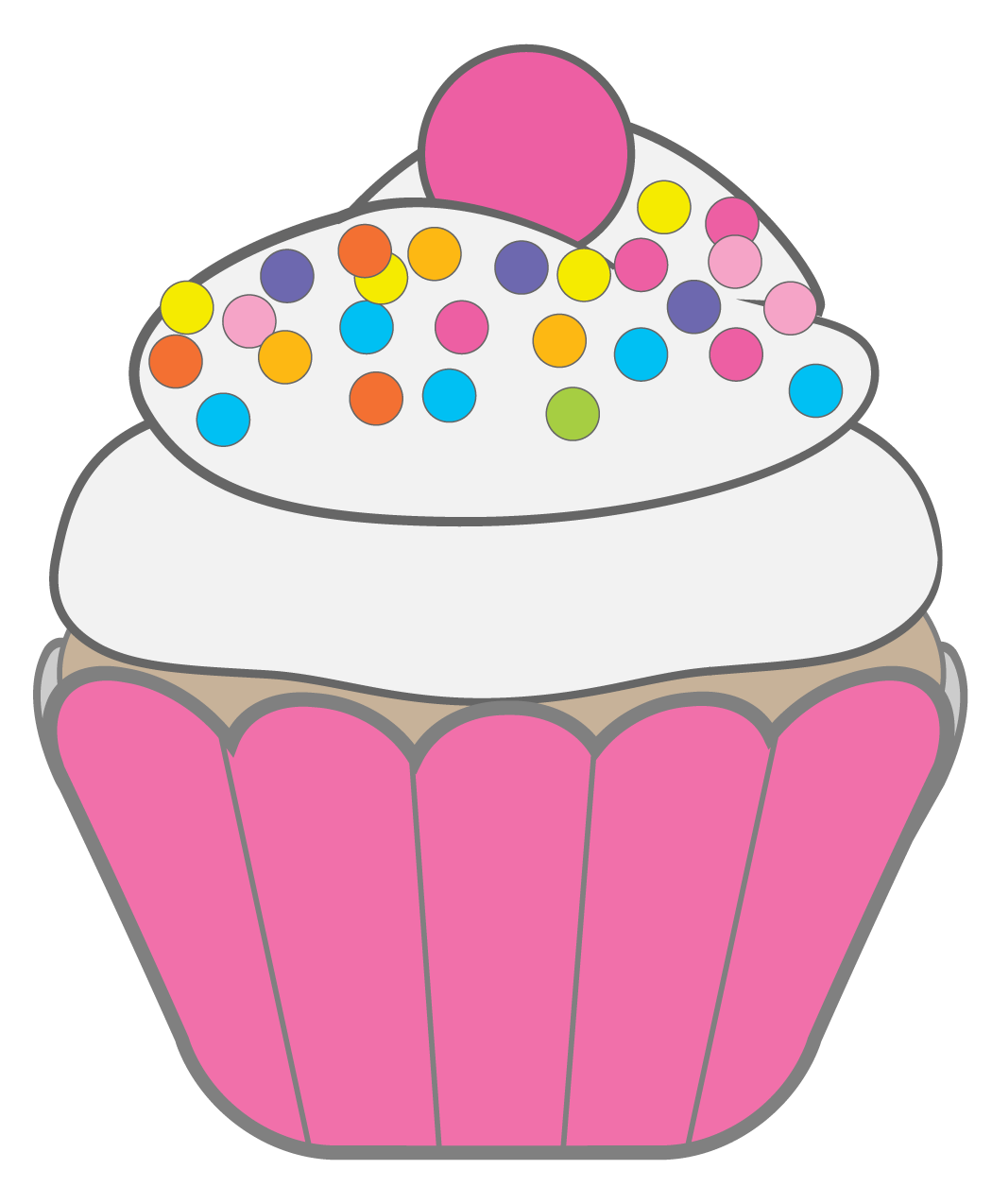 hight resolution of free clipart cupcakes