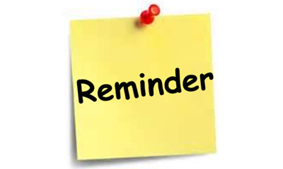 free reminders cliparts