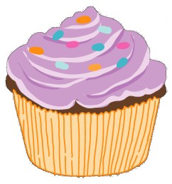 clipart of cupcakes [ 1500 x 1550 Pixel ]