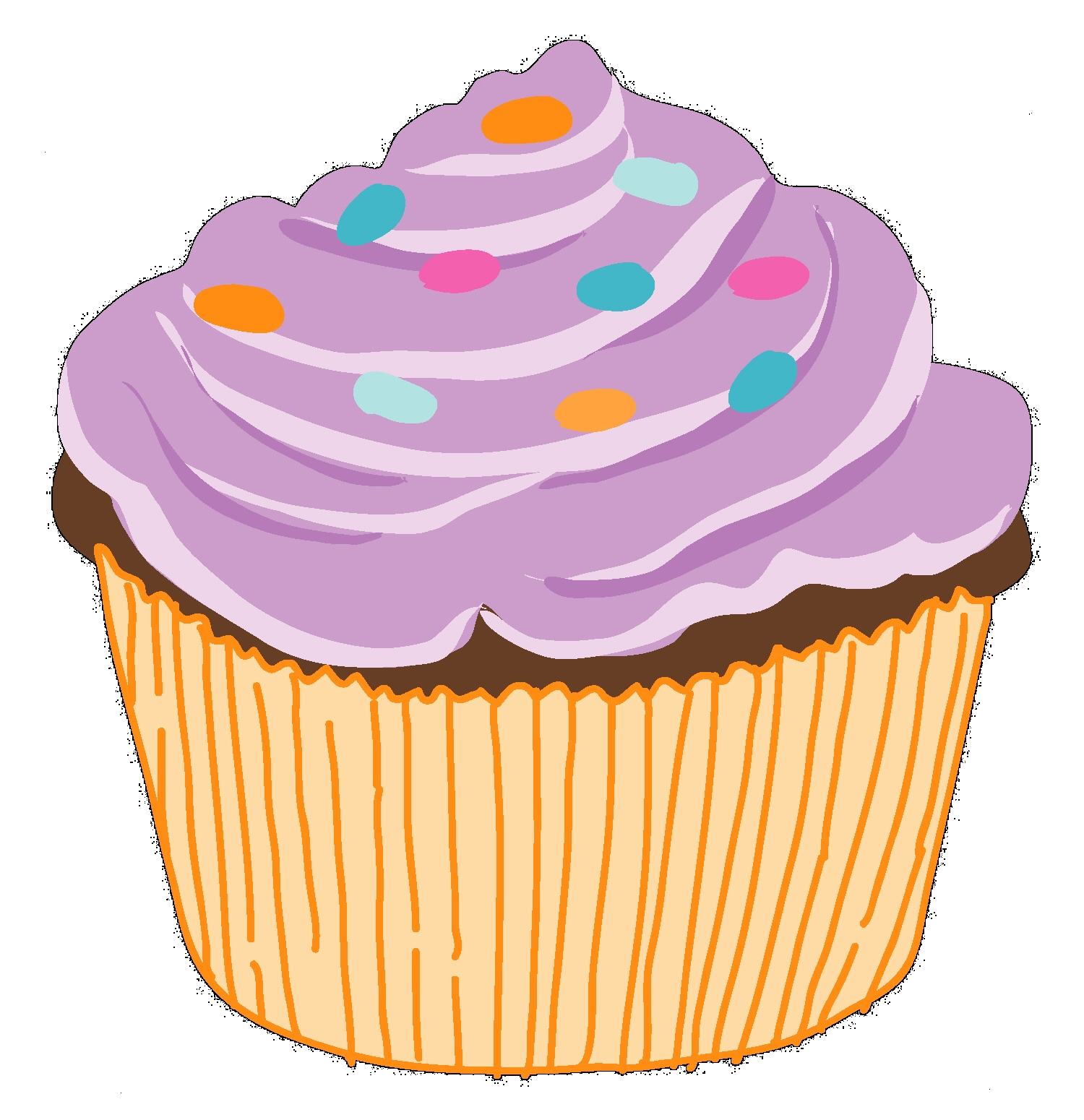hight resolution of clipart of cupcakes
