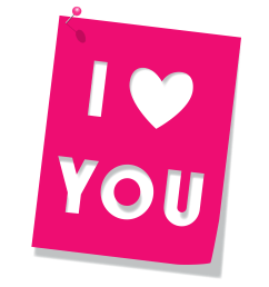 pink love you clipart picture 0 image [ 2276 x 2500 Pixel ]