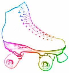image for girl roller skating clip art [ 1500 x 1457 Pixel ]