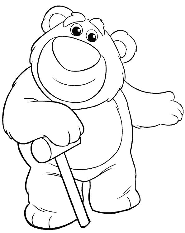 Free coloring pages of lotso woody