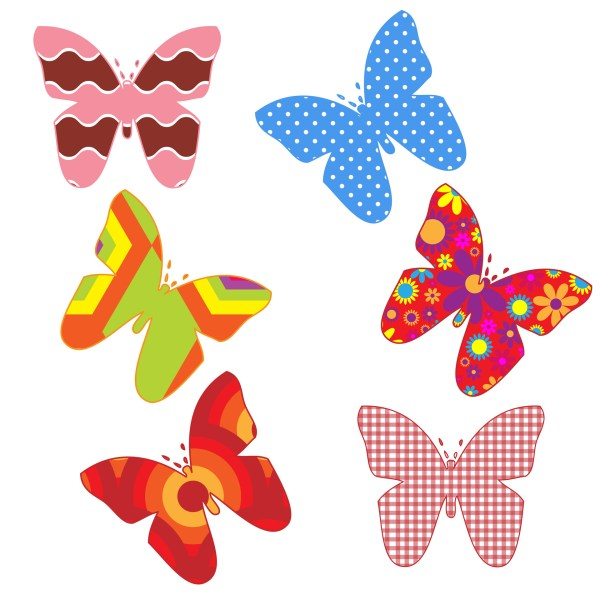 free butterflies cliparts