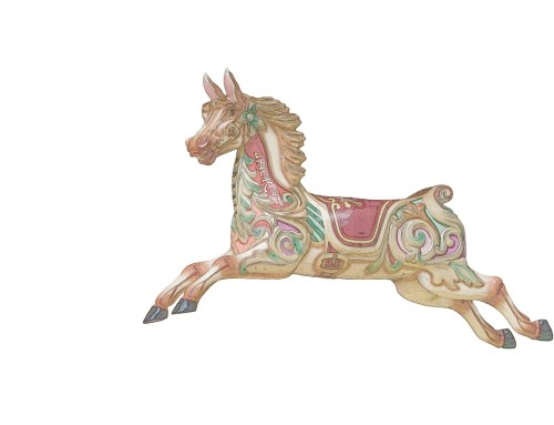 small resolution of carousel horse colorful clipart free stock photo