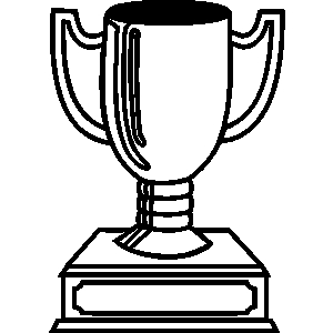 General artwork trophy trophies crests cup clipart lineart