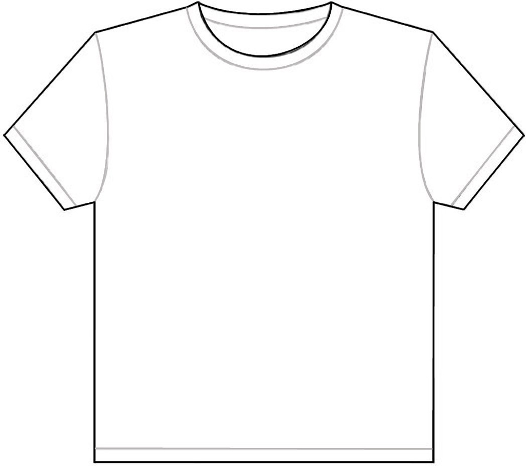 3 4 T Shirt Drawing Template