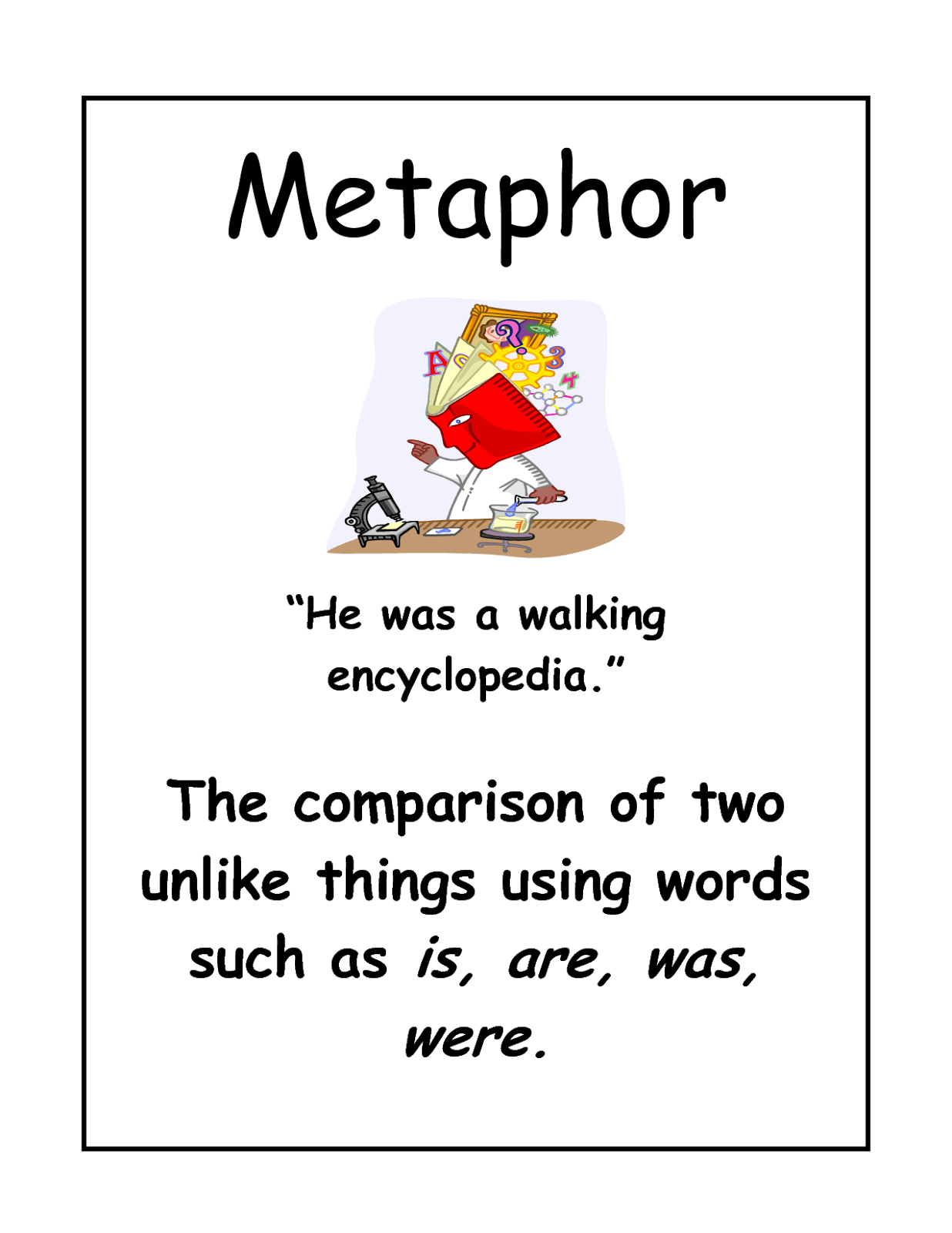 Worksheet What Is A Metaphor Math Worksheet Grass Fedjp