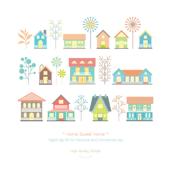 home sweet digital clip art