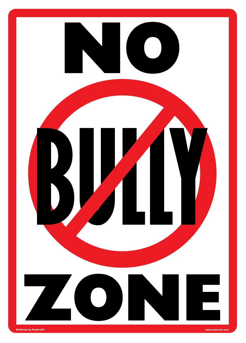 hight resolution of new no bully zone playground rules poster