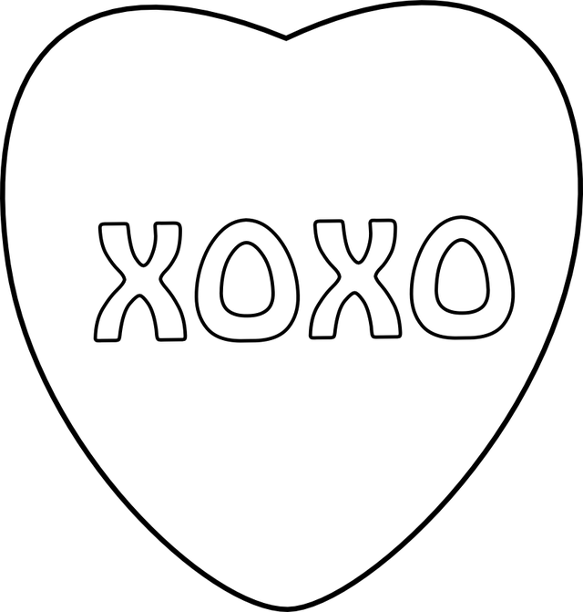 15 Best Photos of Conversation Hearts Clip Art Black And White