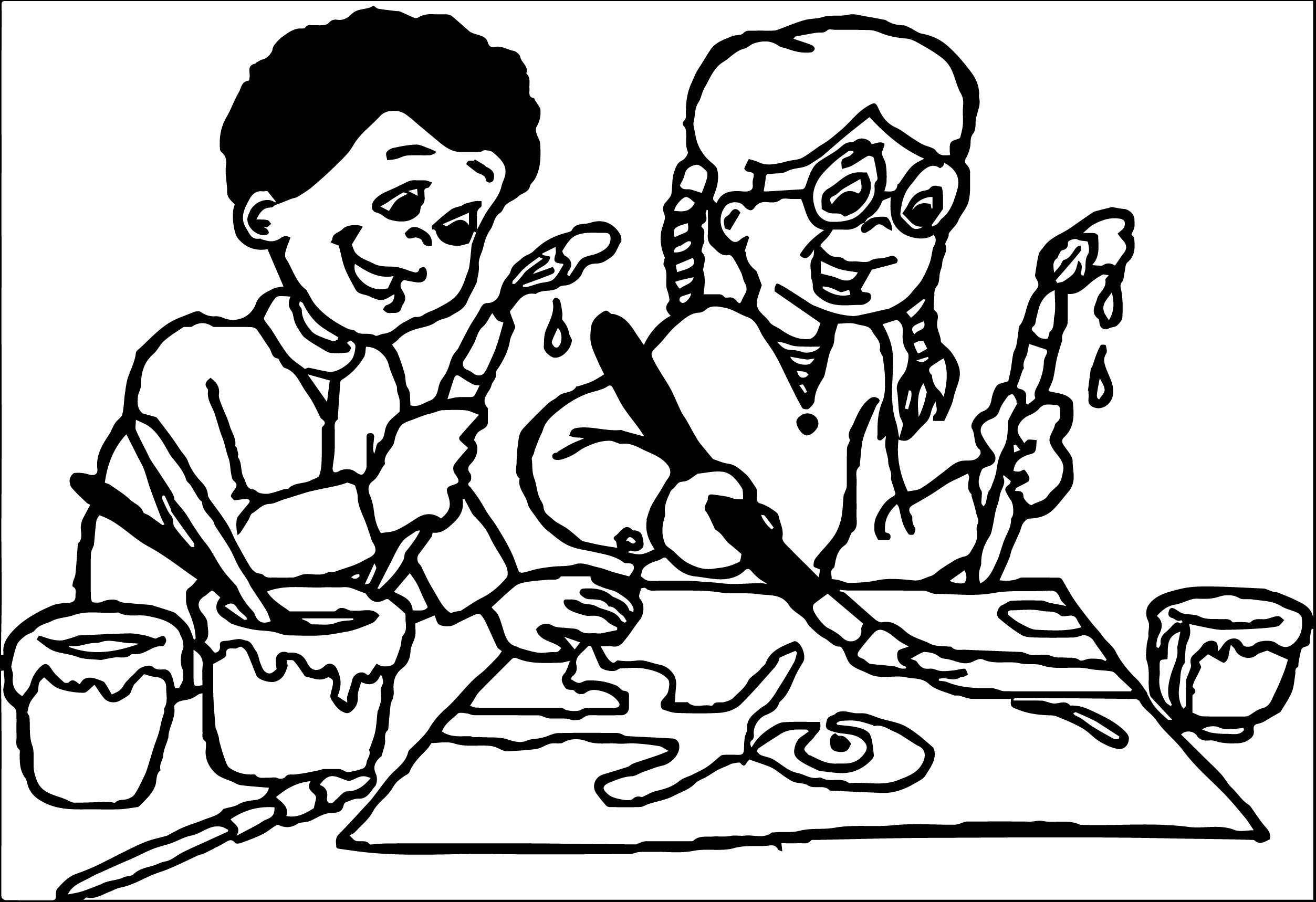 Art And Crafts Clip Art Uxw162idwh Kids We Coloring Page