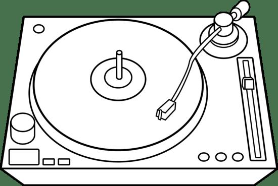 Vinyl Record Player Clip Art