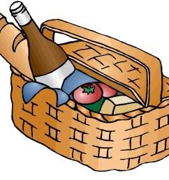 picnic hampers clipart [ 1086 x 889 Pixel ]