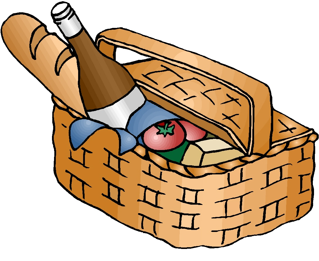 hight resolution of picnic hampers clipart