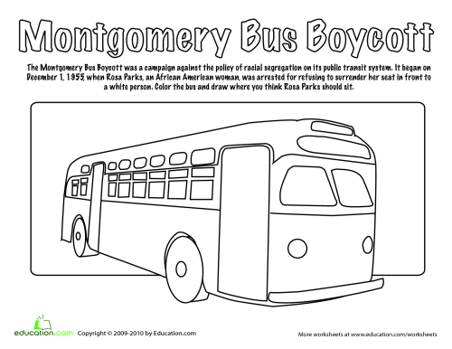 small resolution of rosa parks coloring page