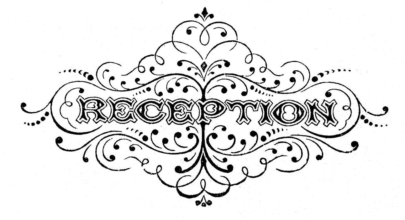 hight resolution of wedding reception clipart