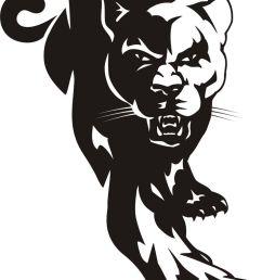 cougar black panther mascot clipart dromggo top image [ 736 x 1135 Pixel ]