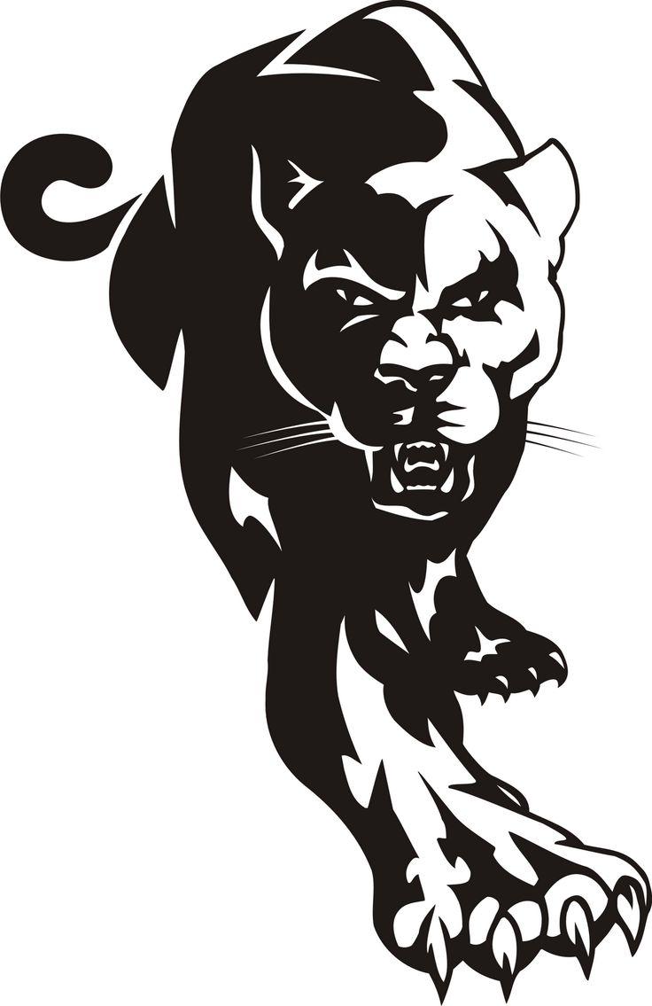 medium resolution of cougar black panther mascot clipart dromggo top image